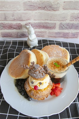 伯爵熔岩珍珠舒芙蕾<br>[Earl Grey Bubble Tea Soufflé Pancake]
